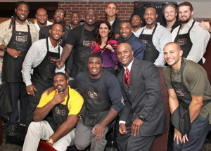 Jonathan Vilma and New Orleans Saints Teammates at Morton's