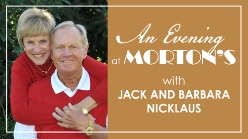 "Jack and Barbara Nicklaus host ""Celebrity Server"" event at Morton's"