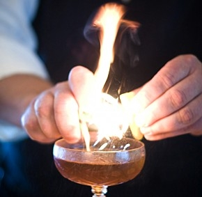 Flaming Cocktails for the 4th of July